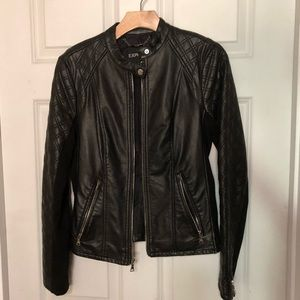 EXPRESS Quilted Leather Jacket
